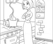 Coloriage et dessins gratuit Chef Cuisinier Dessin animé à imprimer