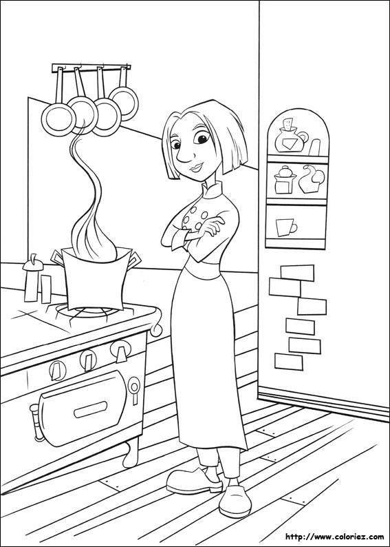 Coloriage et dessins gratuits Chef Cuisinier Dessin animé à imprimer