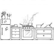 Coloriage et dessins gratuit Cuisine à décorer à imprimer