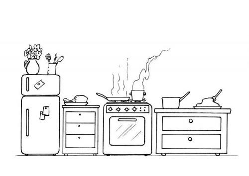 Coloriage et dessins gratuits Cuisine à décorer à imprimer