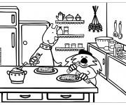 Coloriage et dessins gratuit Cuisine Dessin Animé à imprimer