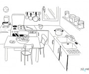 Coloriage et dessins gratuit Cuisine en couleur à imprimer