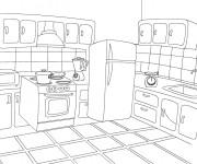Coloriage et dessins gratuit Cuisine en Ligne à imprimer