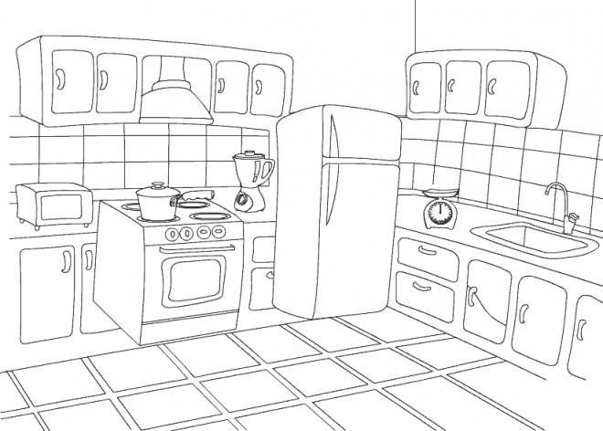 Coloriage et dessins gratuits Cuisine en Ligne à imprimer