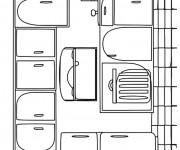 Coloriage et dessins gratuit Cuisine endroit pour préparer les repas à imprimer