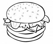Coloriage Cuisine Hamburger