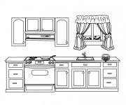 Coloriage et dessins gratuit Cuisine maternelle à imprimer