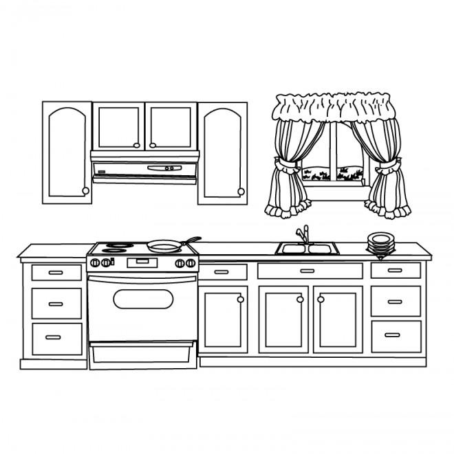 Coloriage et dessins gratuits Cuisine maternelle à imprimer