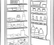 Coloriage Cuisine Réfrigérateur