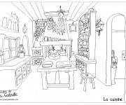Coloriage et dessins gratuit La Cuisine pour adulte à imprimer
