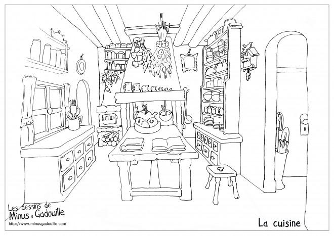 Coloriage et dessins gratuits La Cuisine pour adulte à imprimer