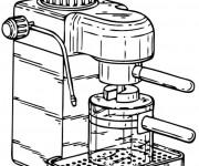 Coloriage Machine à café à La Cuisine