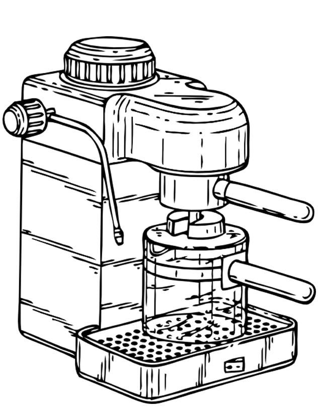 Coloriage et dessins gratuits Machine à café à La Cuisine à imprimer
