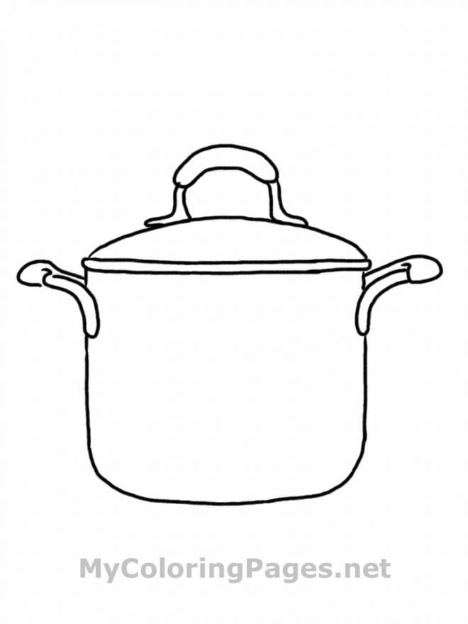 Coloriage et dessins gratuits marmite de cuisine à imprimer