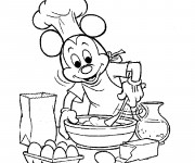 Coloriage Mickey Mouse Cuisinier