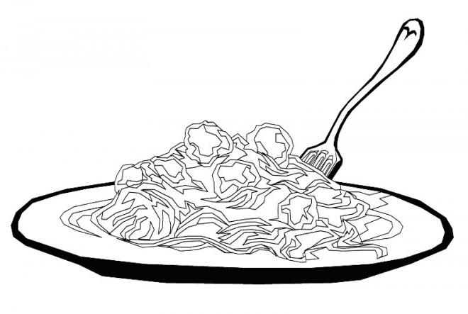 Coloriage et dessins gratuits Plat de Pâtes à imprimer