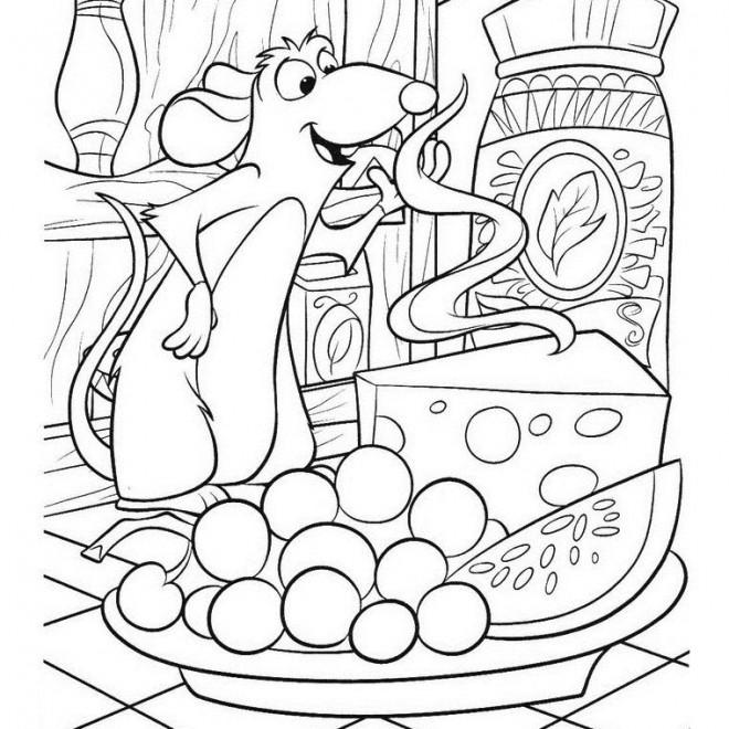 Coloriage et dessins gratuits Rat Cuisinier à imprimer