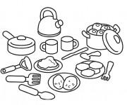 Coloriage Ustensiles de Cuisine en ligne