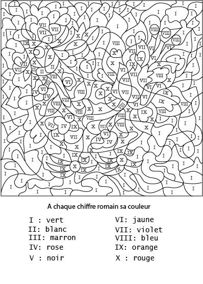 Coloriage Chiffres Latin Magique dessin gratuit à imprimer