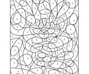 Coloriage et dessins gratuit Dessin a Numéro 4 à imprimer