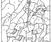 Coloriage et dessins gratuit Dessin à Numéro à découper à imprimer