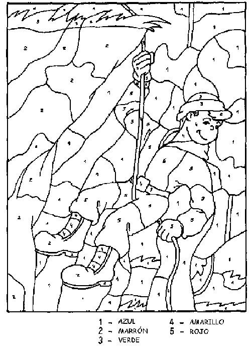 Coloriage et dessins gratuits Dessin à Numéro à découper à imprimer