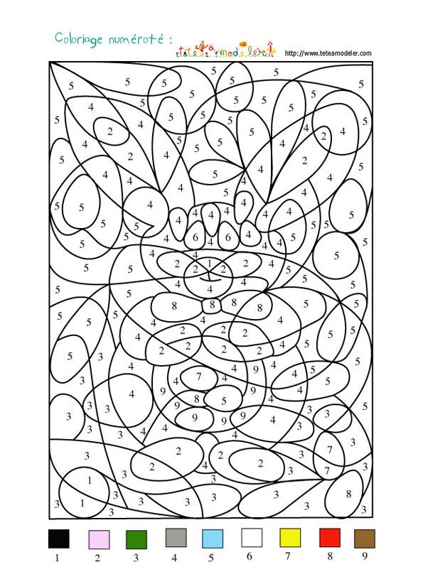 Coloriage dessin num ro en couleur - Coloriage avec des chiffres ...