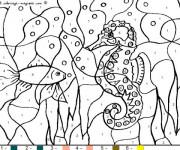 Coloriage et dessins gratuit Fond marin à Numéro à imprimer