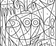 Coloriage et dessins gratuit Fond Marin à Numéro à décorer à imprimer