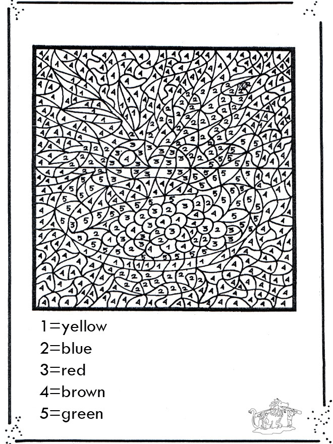 Coloriage Magique Chiffres Pour Adulte Dessin Gratuit à Imprimer