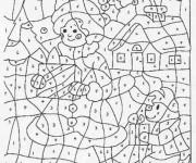 Coloriage et dessins gratuit Magique Dessin à Numéro à imprimer