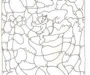Coloriage et dessins gratuit Magique par Numéro pour enfant à imprimer