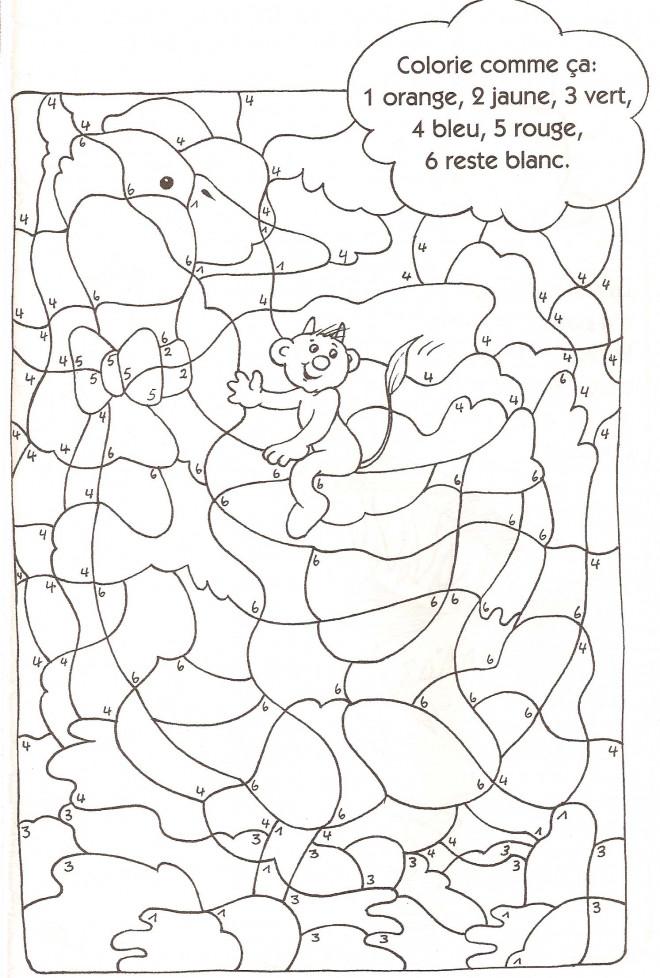 Coloriage magique par num ro pour enfant dessin gratuit imprimer - Des images a colorier et a imprimer ...