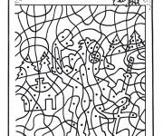 Coloriage et dessins gratuit Magique points à imprimer