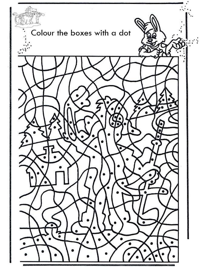 Coloriage et dessins gratuits Magique points à imprimer