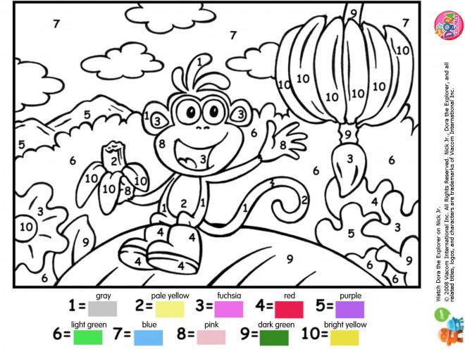 Coloriage et dessins gratuits Singe à Numéro à colorier à imprimer