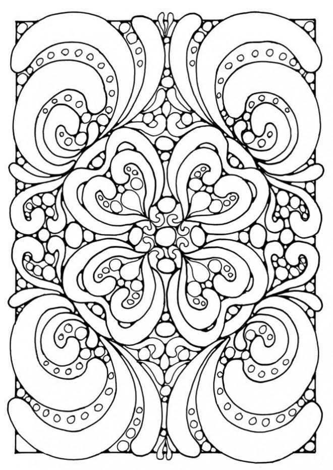 Coloriage et dessins gratuits Adulte Coeur Difficile vectoriel à imprimer