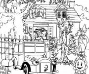 Coloriage et dessins gratuit Adulte Halloween Difficile à imprimer