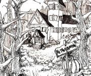 Coloriage et dessins gratuit Adulte Paysage Difficile à imprimer