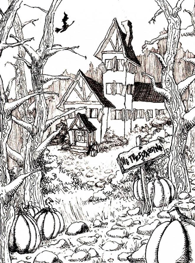 Coloriage et dessins gratuits Adulte Paysage Difficile à imprimer