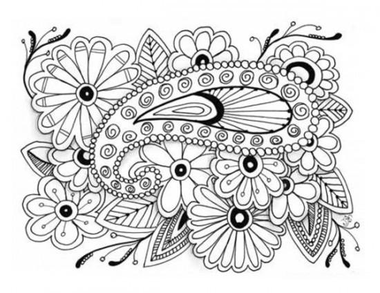 Coloriage et dessins gratuits Art Thérapie Difficile à imprimer