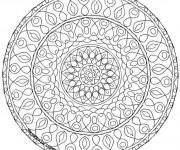 Coloriage Difficile Mandala