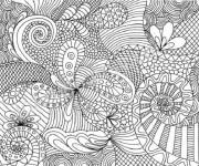Coloriage et dessins gratuit Difficile mandala magnifique à imprimer