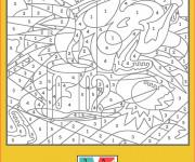 Coloriage et dessins gratuit Difficile numéroté pour enfant à imprimer