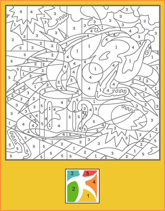 Coloriage Difficile Numéroté Pour Enfant
