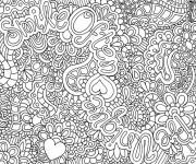 Coloriage et dessins gratuit Difficile pour Adulte à imprimer