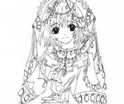 Coloriage et dessins gratuit Fille Manga 27 à imprimer