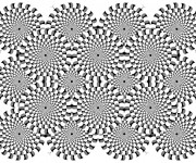 Coloriage Illusion d'optique Adulte