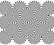 Coloriage et dessins gratuit Illusion d'optique Adulte à imprimer