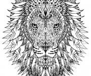 Coloriage Lion Difficile